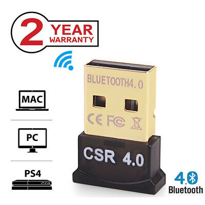 USB 2.0 CSR Bluetooth 4.0 Adapter Dongle For PC LAPTOP WIN XP VISTA 7/8/10 PS4
