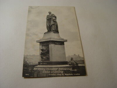 TOP16397 - Valentine's Postcard - Sir Henry Campbell Bannerman Statue Stirling