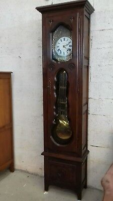 Beautiful Working French Antique/vintage Longcase Clock From Morlaix By Fombaron