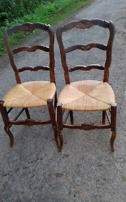 Lovely Pair Of French Antique Early 20Thc Occasional/ Dining/ Bedroom Chairs