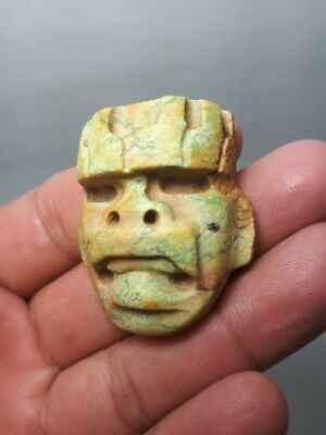 Pre-Columbian Olmec Mask from Mexico. 400 bc.