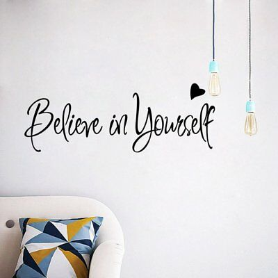 Believe In Yourself Home Decor Creative Inspiring Quote Wall Sticker N2