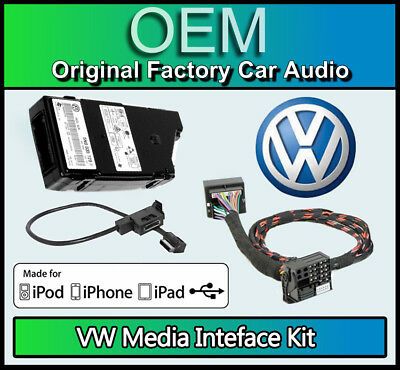 VW MDI Kit media in, VW Caddy iPod iPhone USB lead connection, GENUINE PART