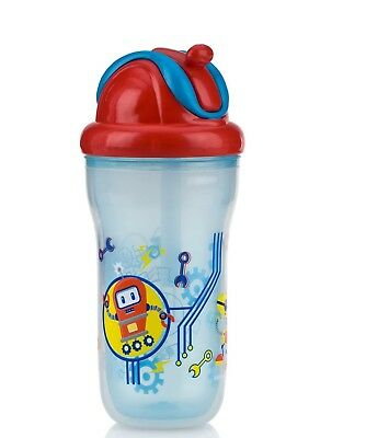 Nuby Insulted Decorative Flip It Beaker Toddler Non-Spill Easy Travel Cup 270ml