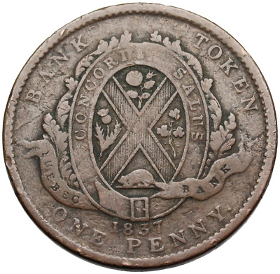 Bank of Canada - One Penny Token - 1837