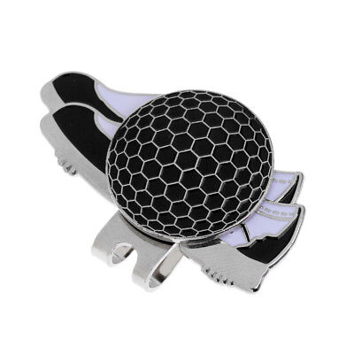 Durable Shoe Stainless Steel Golf Hat Clip with Magnetic Ball Marker Black