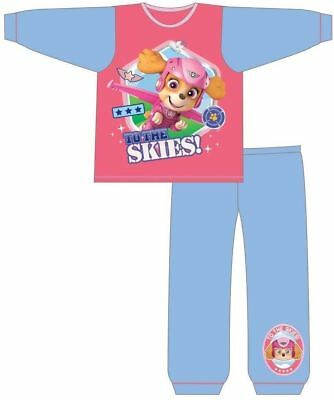 Girls Skye Paw Patrol Long Sleeve Pyjamas Pjs Nightwear For 1.5-4 Years Bnwt