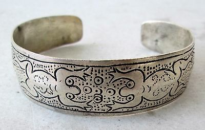 Old Hmong Hill Tribe Unisex Adjustable Silver Bracelet 2 Frog Design