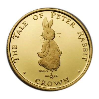 Gibraltar Tenth Ounce Gold Crown 1997 Tale of Peter Rabbit