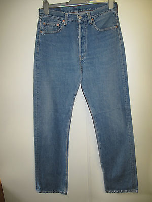"Vintage Levi Strauss 501 Men's Blue Denim Jeans W32"" L34"""