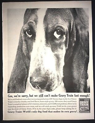 Life Magazine Ad GRAVY TRAIN Dog Food