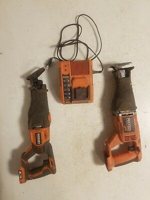 Cordless Ridgid 18V Reciprocating Saws Sawzall Charger Parts Lot