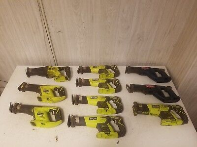 Cordless Ryobi 18V Reciprocating Saws Sawzall Parts Lot Of 10