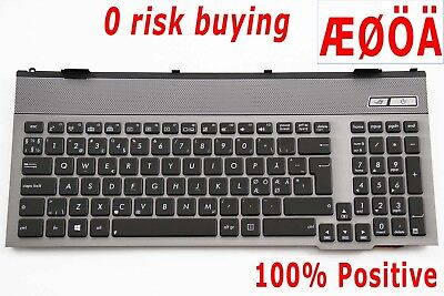 100/% Positive DK Backlit Nordic Swedish Keyboard for Asus G750JW G750JX top case