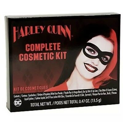 DELUXE Licensed DC Comics HARLEY QUINN Classic MASK & MAKEUP Cosplay COSTUME KIT