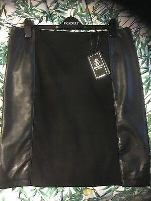 Rino Pelle Leather skirt 18 44 Real Leather