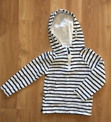 NEXT UK Boys 2-3 Blue & White Striped Hoodie, 2 available