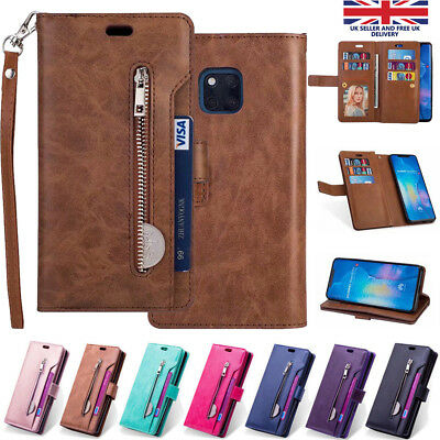 For Huawei Mate 20 Pro Lite Case Leather Wallet Flip Book Stand View Card Holder