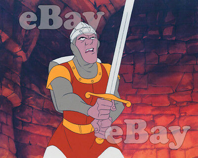 Rare! DRAGON'S LAIR Cartoon Color Photo DON BLUTH VIDEO GAME