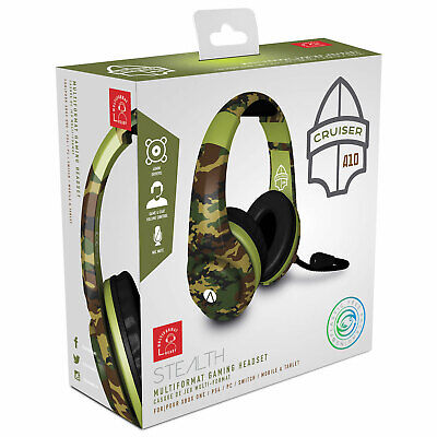 Stereo Camo Gaming Chat Headset Stealth XP Army Cruiser New and Sealed