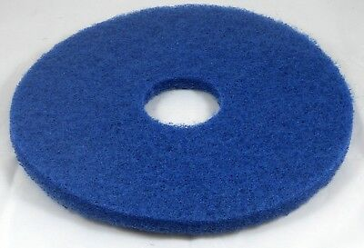 """15"""" (381mm) thickline circular floor pads blue for floor scrubber. Pack of 5."""