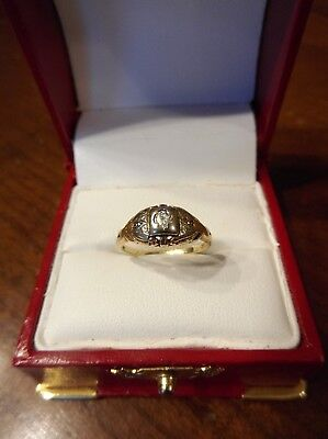 Antique Art Deco 14K Yellow White Gold Diamond Engagement Ring Size 5.25 (433)
