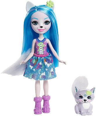 Enchantimals Muñeca Winsley Wolf, (Mattel FRH40)