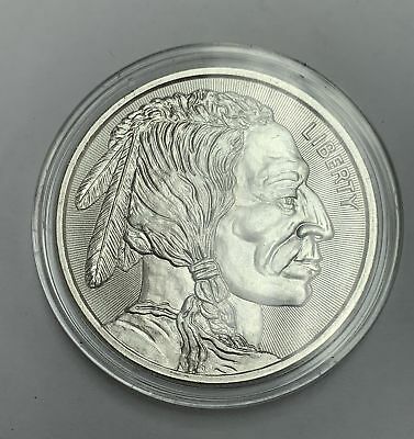 1 oz .999 Fine Silver Art Round - Indian Head / No Date Buffalo Silver Round