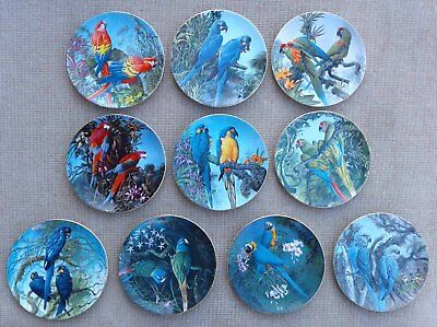 Wedgwood - Fragile Paradise Collection - Selection Of Plates - Ltd Edition.