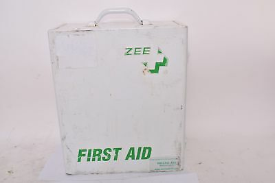 Vintage Large ZEE First Aid Kit W/ Medical Supplies Included, 16-1/2 X 13-1/2 X
