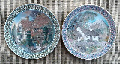 ROYAL WORCESTER - COTTAGE GARDENS by SUE SCULLARD - SELECTION OF PLATES.