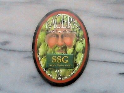 Facer's SSG Santa's Styrian Gold real ale beer pump clip sign christmas issue