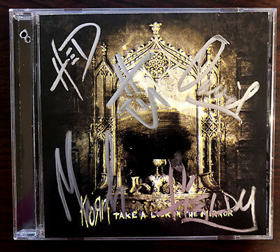 Korn Take A Look In The Mirror CD Signed Autographed
