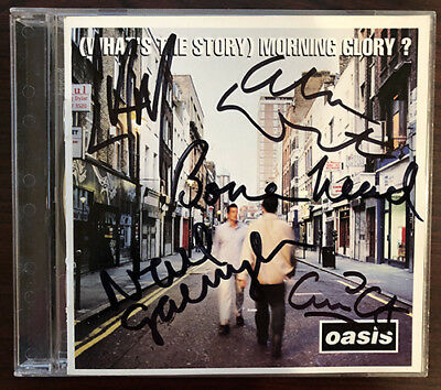 Oasis What's The Story Morning Glory CD Signed Autographed