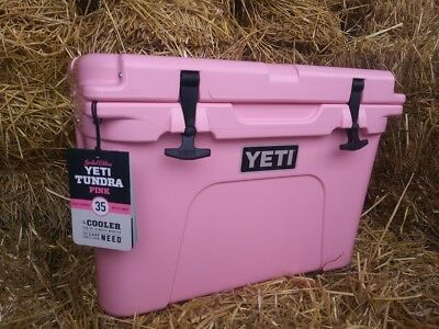 YETI 35 Tundra COOLER -Limited Edition - PINK - New in Box + Free Pink YETI  Cap