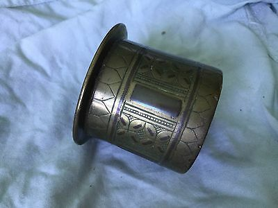 Antique Small Copper & Brass  Middle Eastern, African, Islamic Planter Pot .