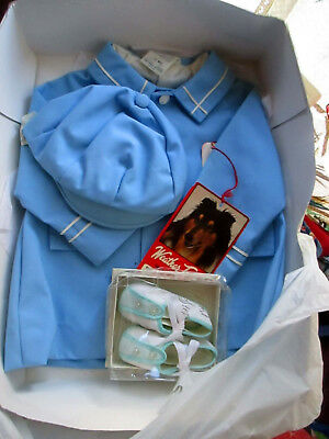 1T 12m NEW NWT BOYS Vtg 70s CAP JACKET AND BABY SHOES  weather tamer NOS
