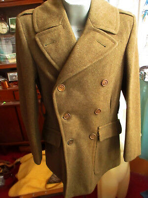 WW2 8-51B Melton Wool US Army Dated 1941 Roll Collar Military 34L Over coat