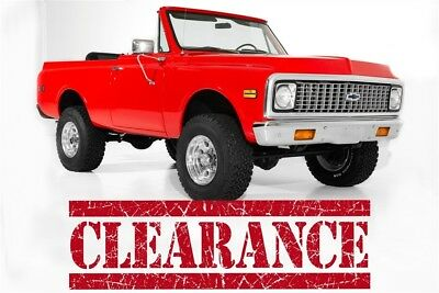 1972 Chevrolet Blazer Red K5 4x4,4-Speed A/C