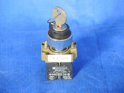 Telemecanique key switch with 2 x ZB2-BE101 and/or BE102, w. key
