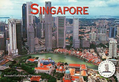 Aerial View of the Marina Bay Area, Singapore, Skyline, Hotel, Bank etc Postcard