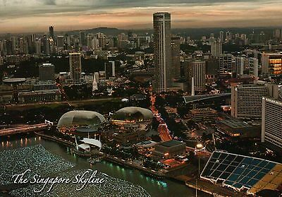 The Marina Bay City Singapore, Esplanade Theatres, Skyline, Aerial etc. Postcard