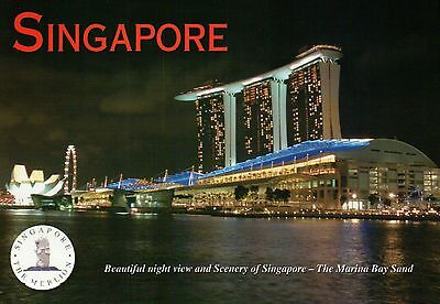 The Marina Bay Sands Hotel & Singapore Flyer, Ferris Wheel, Asia, SG Postcard