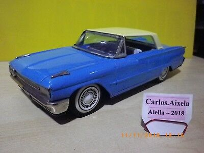FORD GALAXIE 2 DOOR TWO TONE - TIN TOY CAR MADE IN JAPAN ICHIKO 1961 -How Bandai