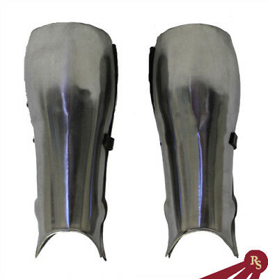 MEDIEVAL KNIGHT SHORT LEG ARMOR - Steel - ROMAN COSTUME