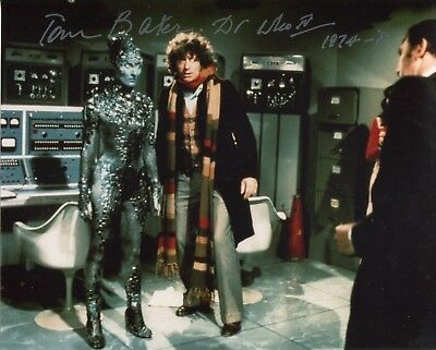 DOCTOR WHO 8x10 photo signed by Tom Baker 4th Doctor