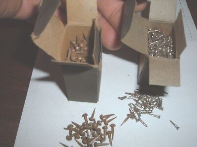 vtg antique nails wrought iron old vintage rustic brads tacks / hungarian 1903