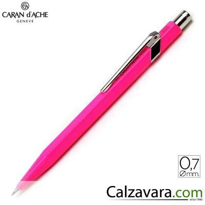 Caran d'Ache 844 Portamine 0,7 | Mechanical Pencil CdA | Rosa Pink Fluo