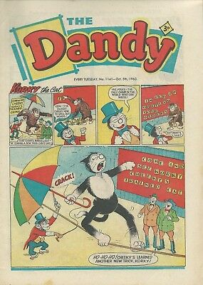 Dandy Comics. October 1963. Good Condition. Oct. 5th, 12th, 19th & 26th 1963.
