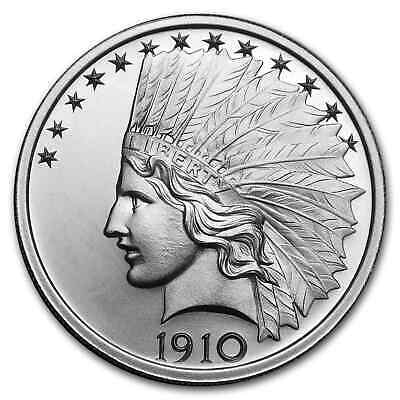 2 oz Silver High Relief Round - $10 Indian - SKU#177668